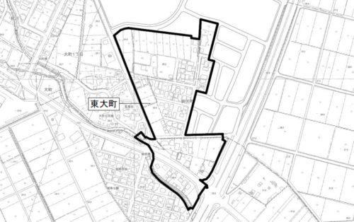 新潟県長岡市2018年2月24日区画整理事業住所変更区域図他2