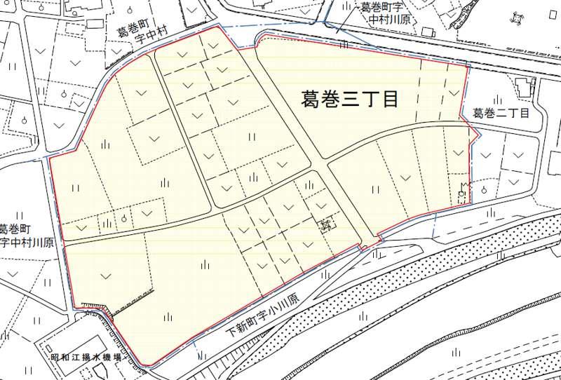 新潟県見附市2018年4月1日住居表示住所変更区域図他1