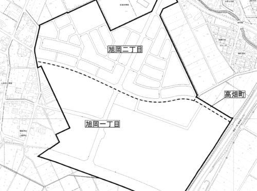 新潟県長岡市2018年4月28日区画整理事業住所変更区域図他1