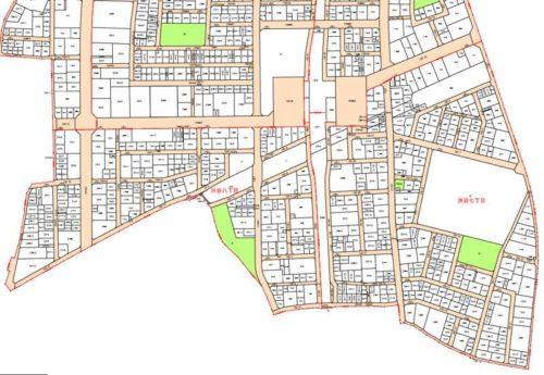 神奈川県大和市2018年6月30日区画整理事業住所変更区域図他1