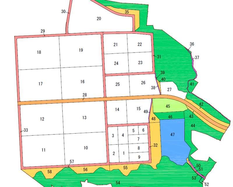 福島県郡山市2018年6月23日区画整理事業住所変更区域図他1