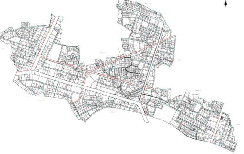 福島県郡山市2018年6月30日区画整理事業住所変更区域図他1