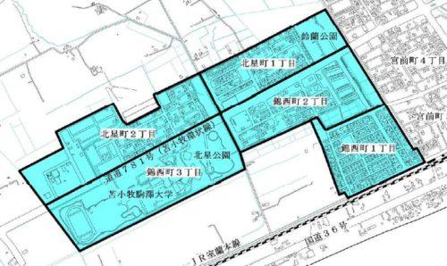北海道苫小牧市2018年10月1日住居表示住所変更区域図他1