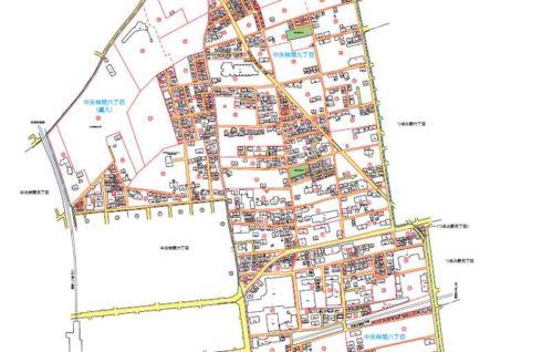 神奈川県大和市2018年10月9日住居表示住所変更区域図他1
