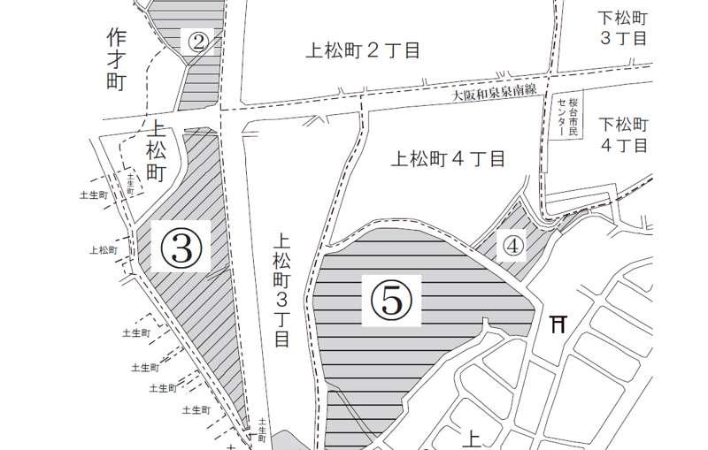 大阪府岸和田市2018年9月25日住居表示住所変更区域図他1