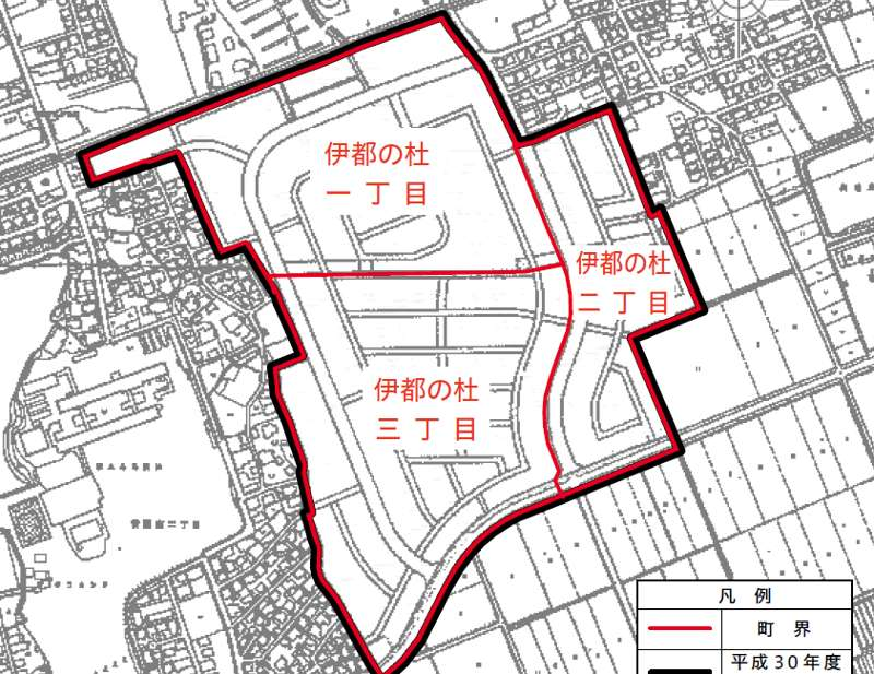 福岡県糸島市2018年10月6日区画整理事業住所変更区域図他1