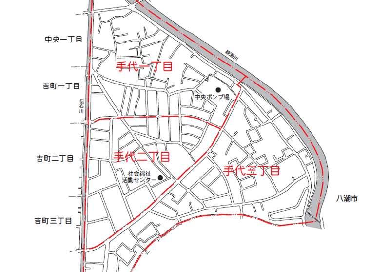 埼玉県草加市2018年11月23日住居表示住所変更区域図他1