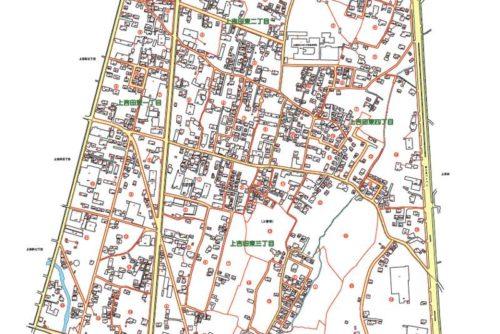 山梨県富士吉田市2018年10月29日住居表示住所変更区域図他2