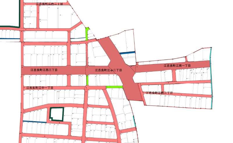 岐阜県羽島市2018年9月29日区画整理事業住所変更区域図他1