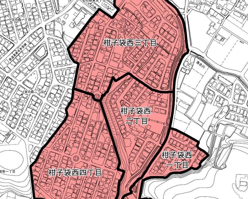 滋賀県湖南市2018年11月5日住居表示住所変更区域図他1