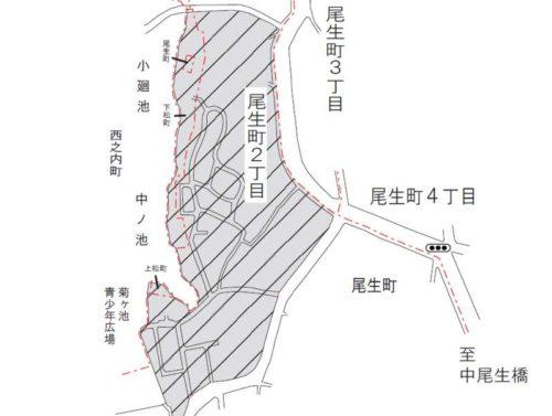 大阪府岸和田市2018年12月3日住居表示住所変更区域図他1
