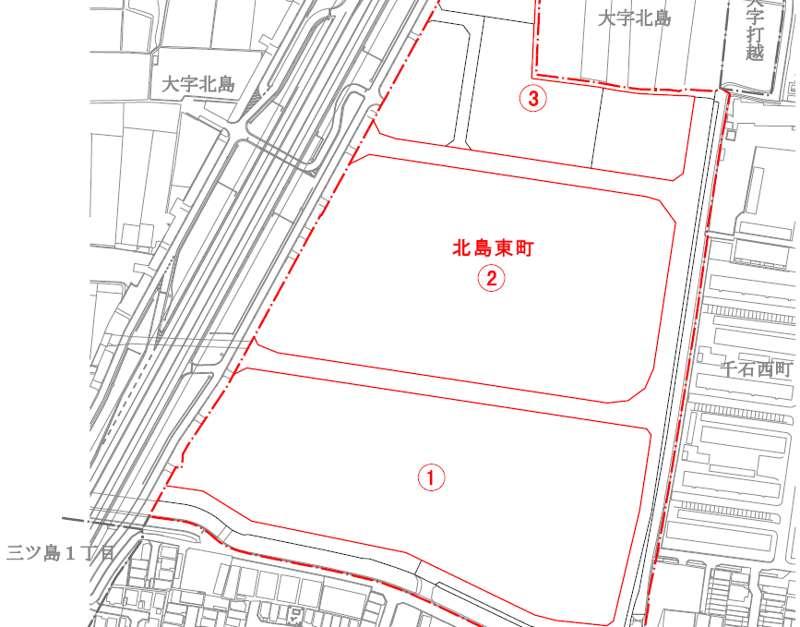 大阪府門真市2018年12月1日住居表示住所変更区域図他1