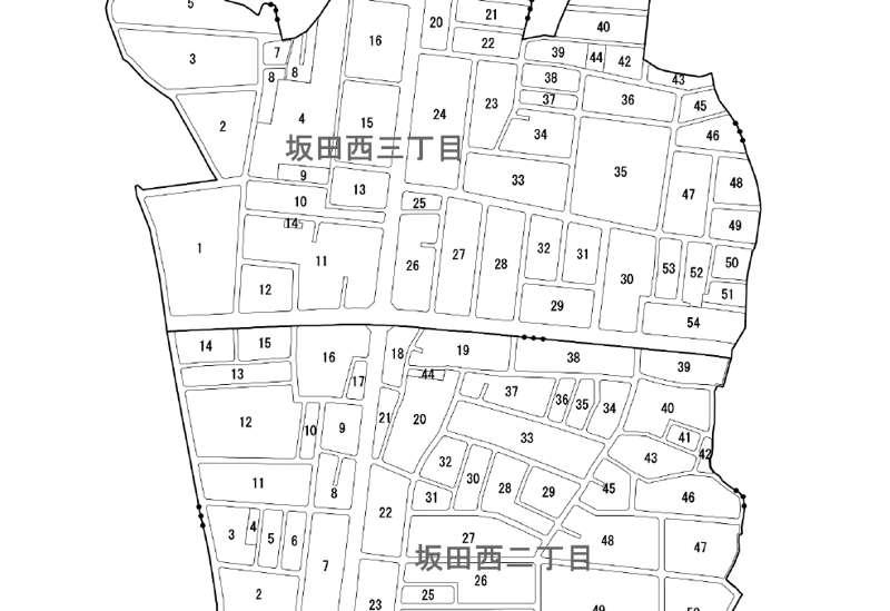 埼玉県桶川市2019年2月9日区画整理事業住所変更区域図他1