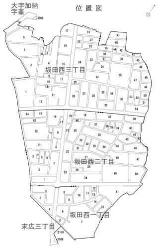 埼玉県桶川市2019年2月9日区画整理事業住所変更区域全体図
