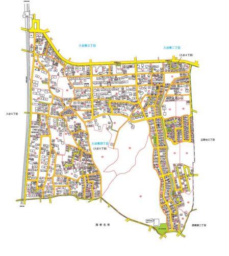 神奈川県座間市2019年2月12日住居表示住所変更区域全体図2