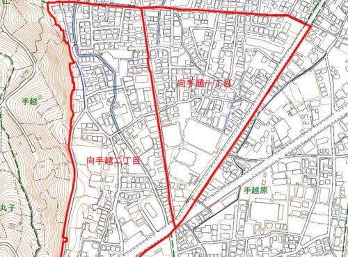 静岡県静岡市駿河区2019年2月9日住居表示住所変更区域図他1