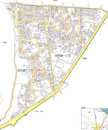 静岡県静岡市駿河区2019年2月9日住居表示住所変更区域全体図