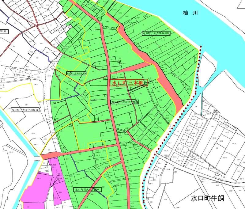 滋賀県甲賀市2019年3月1日字の区域及び名称変更住所変更区域図他1