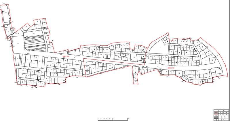 京都府相楽郡精華町2020年3月7日区画整理事業住所変更区域図他1