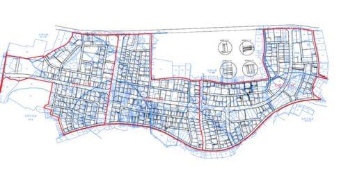 千葉県茂原市2019年8月10日区画整理事業住所変更区域図他全体図