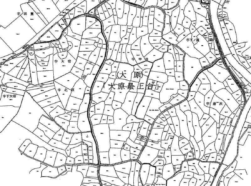 千葉県いすみ市2019年8月10日区画整理事業住所変更区域図他1