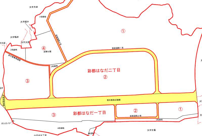大阪府茨木市2019年8月1日住居表示住所変更区域図他