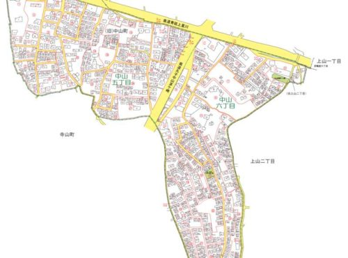 神奈川県横浜市緑区2019年10月21日住居表示住所変更区域図他1