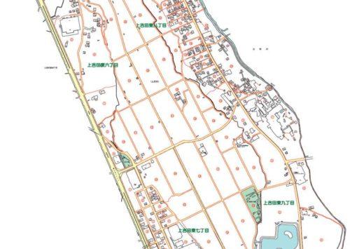 山梨県富士吉田市2019年11月5日住居表示住所変更区域図他1