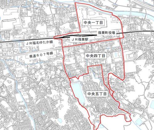 福岡県糟屋郡篠栗町2019年11月2日住居表示住所変更区域図他1