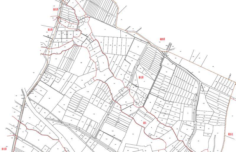 福島県郡山市2019年12月7日区画整理事業住所変更区域図