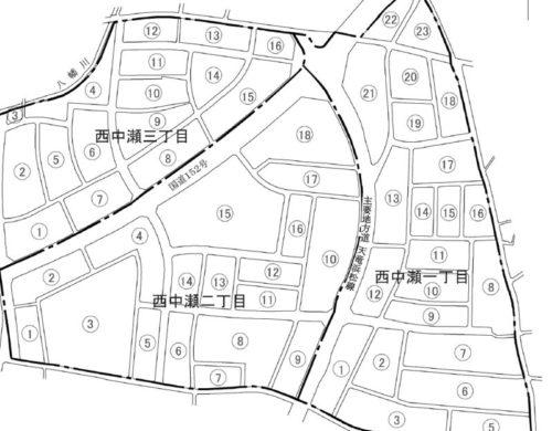静岡県浜松市浜北区2020年1月1日住居表示住所変更区域図他1