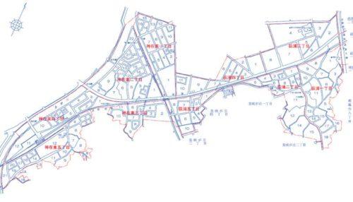 福岡県糸島市2019年11月2日住居表示住所変更区域図他二