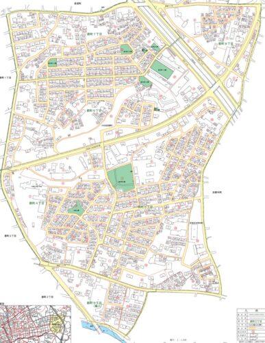 千葉県千葉市中央区2020年2月3日住居表示住所変更区域図他2