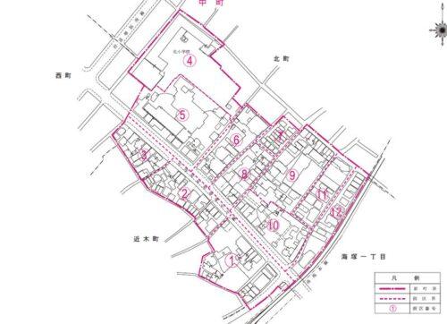 大阪府貝塚市2019年12月9日住居表示住所変更区域図他1