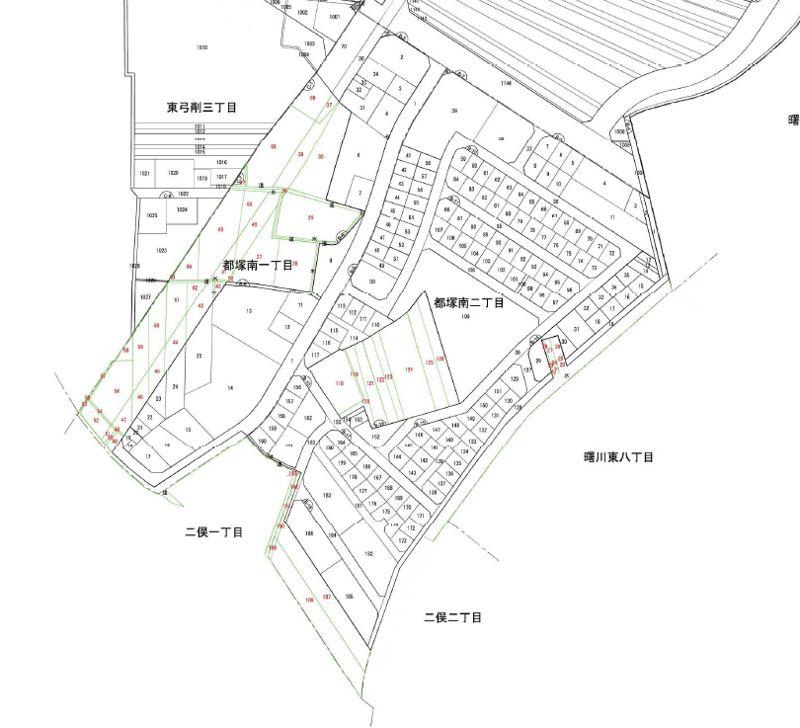 大阪府八尾市2019年12月20日区画整理事業住所変更区域図他1