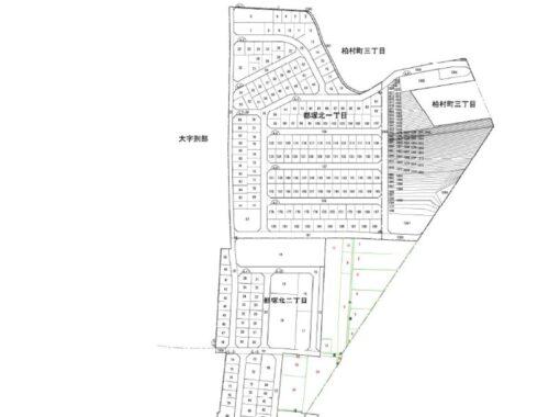 大阪府八尾市2019年12月20日区画整理事業住所変更区域図他2
