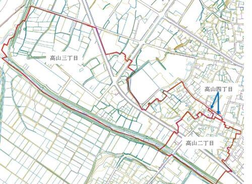 新潟県十日町市2019年11月18日地籍調査による地番整理住所変更区域図他1