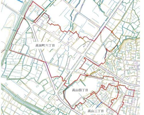 新潟県十日町市2019年11月18日地籍調査による地番整理住所変更区域図他2