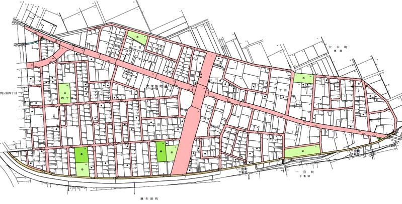 愛知県豊川市2020年2月8日区画整理事業住所変更区域図他1
