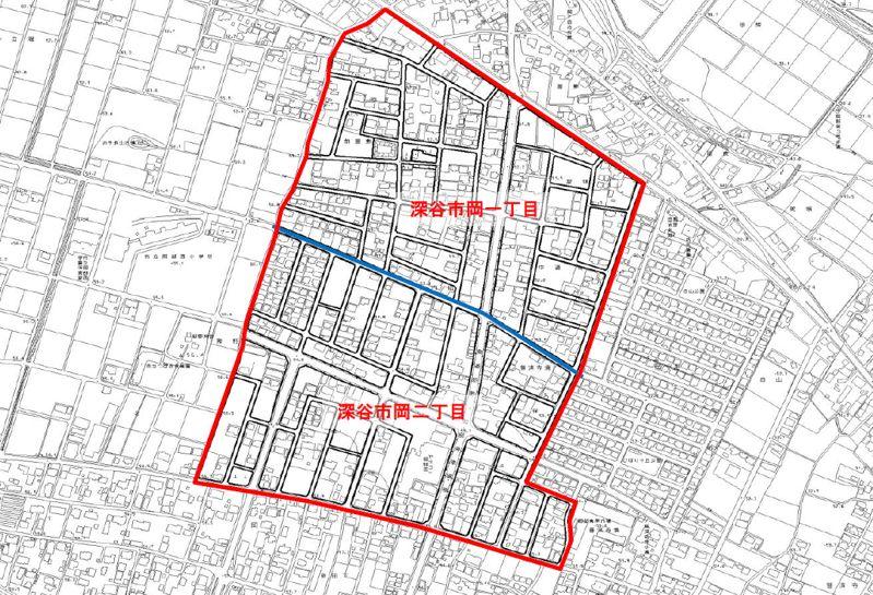 埼玉県深谷市2020年2月22日区画整理事業住所変更区域図他1