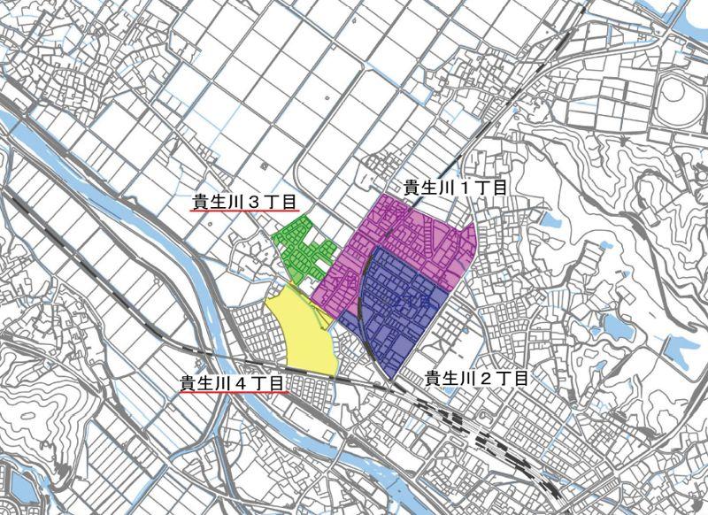 滋賀県甲賀市2020年3月18日区画整理事業住所変更区域図他1