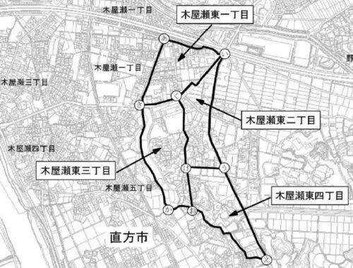 福岡県北九州市八幡西区2020年8月1日住居表示住所変更区域図他1