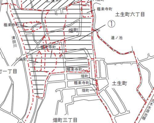 大阪府岸和田市2020年9月14日住居表示住所変更区域図他1
