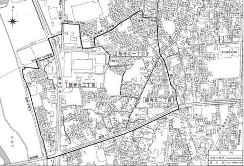福島県会津若松市2020年10月19日住居表示住所変更区域図他1